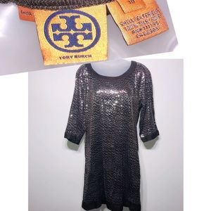 Tory Burch AUTHENTIC sequins dress SILK Size 10